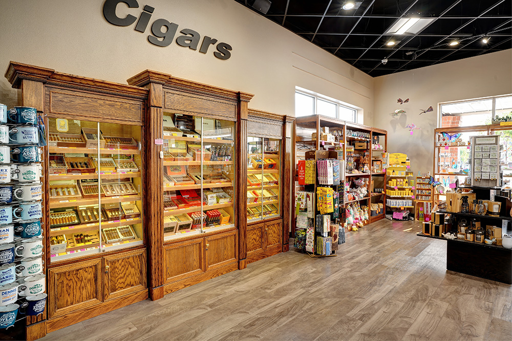 Cigars section of the Keizer Liquor Store